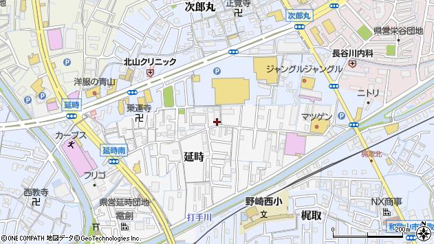 〒640-8443 和歌山県和歌山市延時の地図