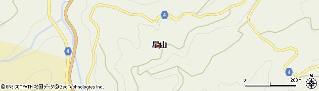 和歌山県かつらぎ町(伊都郡)星山周辺の地図
