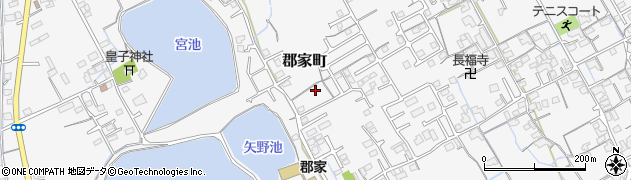 香川県丸亀市郡家町八幡上周辺の地図