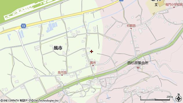 〒649-6563 和歌山県紀の川市風市の地図