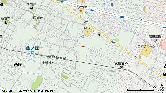 〒640-0112 和歌山県和歌山市西庄の地図
