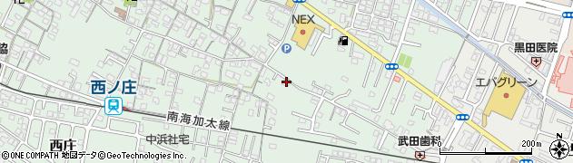 和歌山県和歌山市西庄周辺の地図