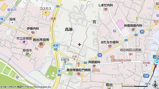 〒649-6234 和歌山県岩出市高瀬の地図