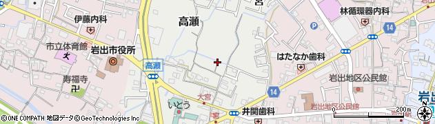 和歌山県岩出市高瀬周辺の地図