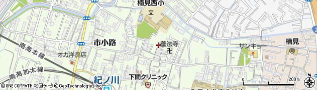 和歌山県和歌山市市小路周辺の地図