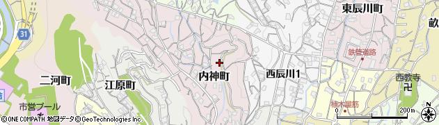 広島県呉市内神町周辺の地図