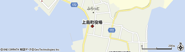 愛媛県越智郡上島町周辺の地図