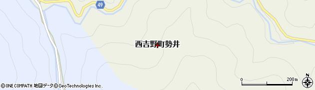 奈良県五條市西吉野町勢井周辺の地図