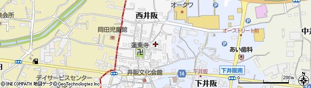 和歌山県紀の川市西井阪周辺の地図
