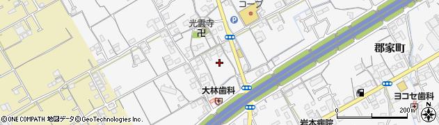 香川県丸亀市郡家町八幡下周辺の地図