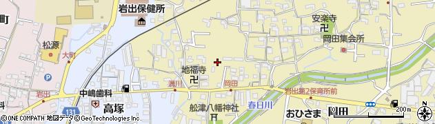 和歌山県岩出市溝川周辺の地図