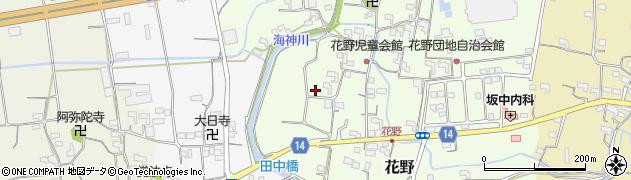 和歌山県紀の川市花野周辺の地図