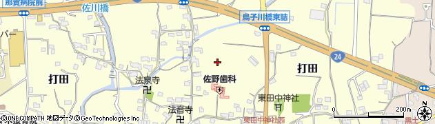 和歌山県紀の川市打田周辺の地図
