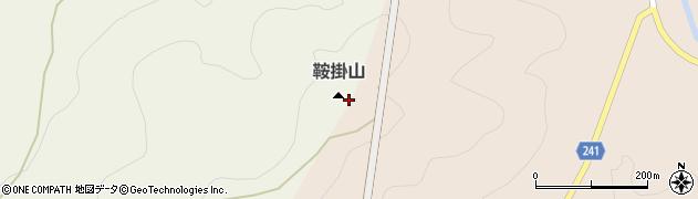 鞍掛山周辺の地図