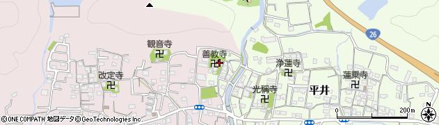 善教寺周辺の地図