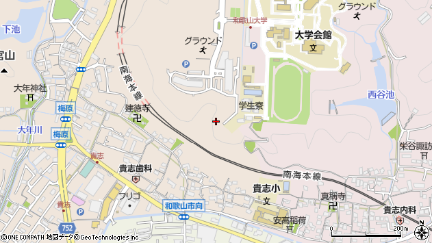 〒640-8451 和歌山県和歌山市中の地図