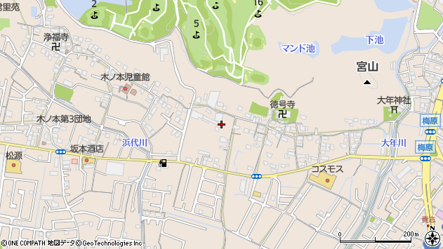 〒640-8452 和歌山県和歌山市梅原の地図