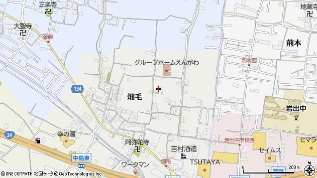 〒649-6244 和歌山県岩出市畑毛の地図