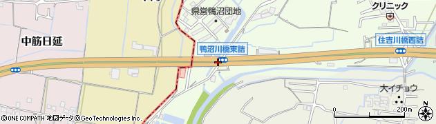 鴨沼川橋東詰周辺の地図