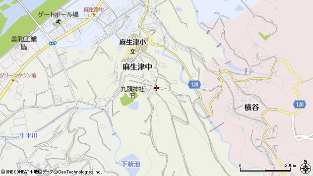〒649-6615 和歌山県紀の川市麻生津中の地図