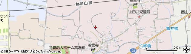 和歌山県紀の川市上田井周辺の地図