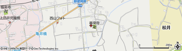 和歌山県紀の川市嶋周辺の地図