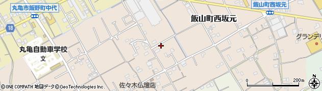 香川県丸亀市飯山町西坂元西沖周辺の地図