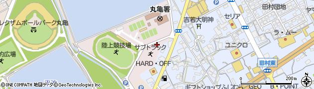 香川県丸亀市新田町池東周辺の地図