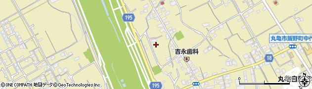 香川県丸亀市飯野町東二中宮周辺の地図