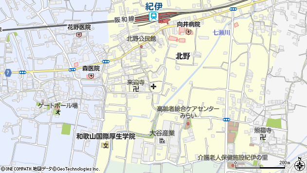 〒649-6331 和歌山県和歌山市北野の地図