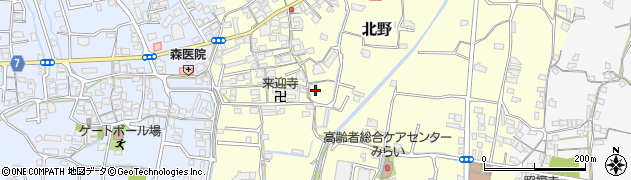 和歌山県和歌山市北野周辺の地図