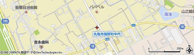 香川県丸亀市飯野町東二中代周辺の地図