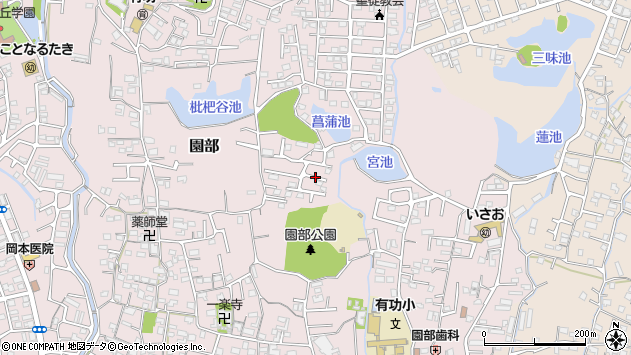 〒640-8483 和歌山県和歌山市園部の地図
