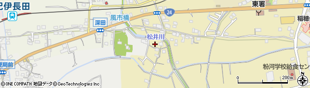 和歌山県紀の川市松井周辺の地図