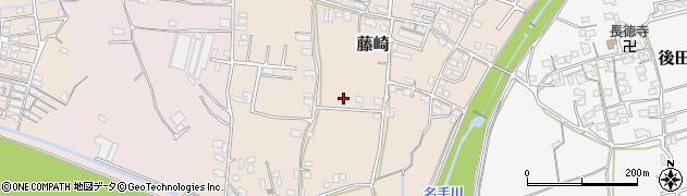 和歌山県紀の川市藤崎周辺の地図