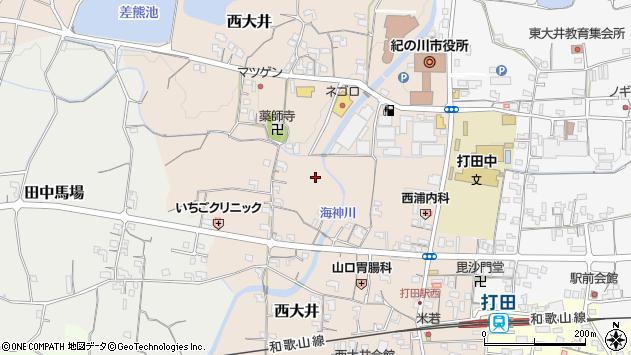 〒649-6417 和歌山県紀の川市西大井の地図