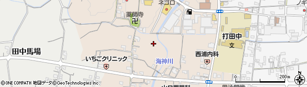 和歌山県紀の川市西大井周辺の地図