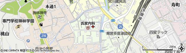 湛然寺周辺の地図