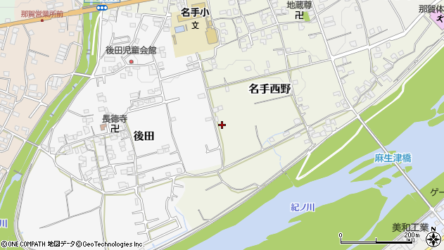 〒649-6621 和歌山県紀の川市名手西野の地図