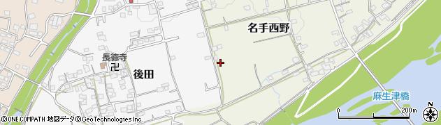 和歌山県紀の川市名手西野周辺の地図
