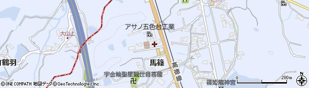 香川県東かがわ市馬篠周辺の地図