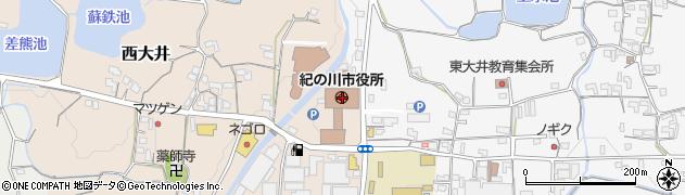 和歌山県紀の川市周辺の地図