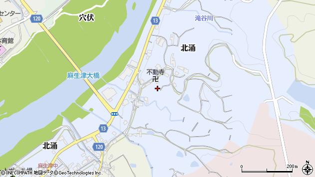 〒649-6612 和歌山県紀の川市北涌の地図
