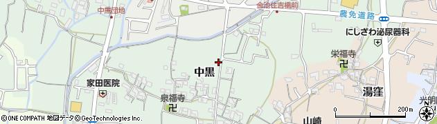 和歌山県岩出市中黒周辺の地図