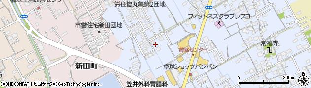 香川県丸亀市田村町向又周辺の地図