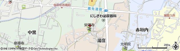 和歌山県岩出市湯窪周辺の地図