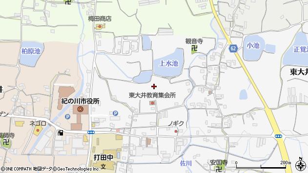 〒649-6405 和歌山県紀の川市東大井の地図