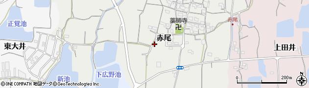 和歌山県紀の川市赤尾周辺の地図