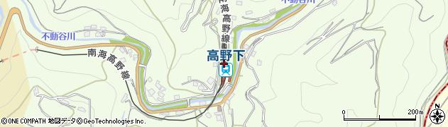 和歌山県伊都郡九度山町周辺の地図