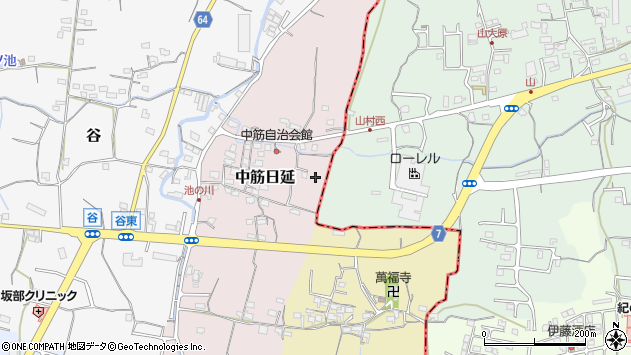 〒649-6304 和歌山県和歌山市中筋日延の地図